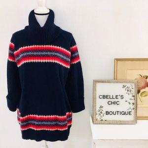 Gap Chunky Oversized Wool Cowl Neck Sweater Sz XL